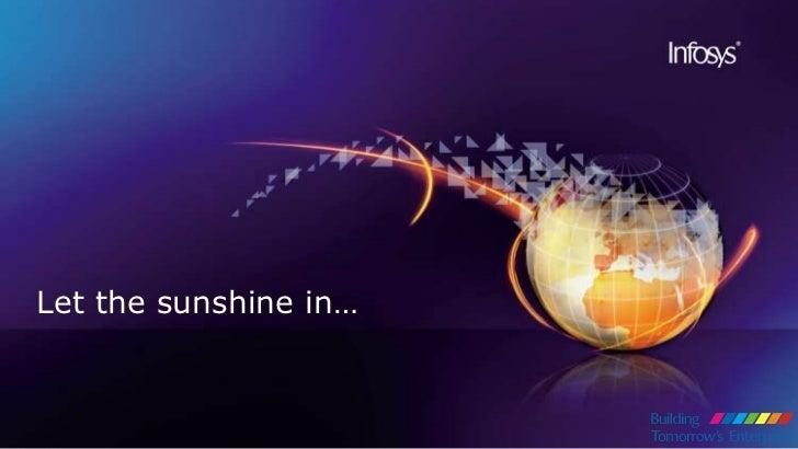 Let the sunshine in…<br />