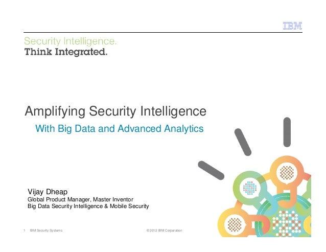 © 2012 IBM CorporationIBM Security Systems1 IBM Security Systems © 2012 IBM CorporationAmplifying Security IntelligenceWit...