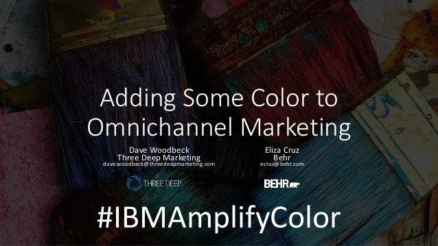 Adding Some Color to Omnichannel Marketing Dave Woodbeck Three Deep Marketing dave.woodbeck@threedeepmarketing.com Eliza C...