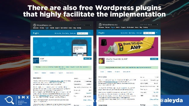 #SMX #14A @aleyda There are also free Wordpress plugins  that highly facilitate the implementation