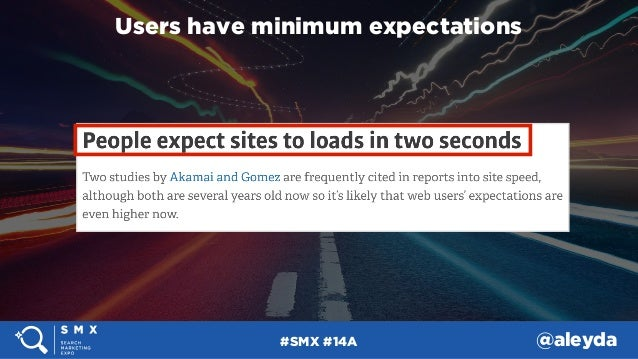 #SMX #14A @aleyda Users have minimum expectations