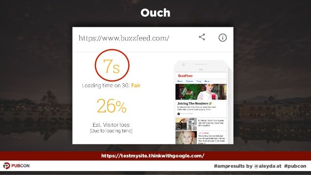 #ampresults by @aleyda at #pubcon Ouch https://testmysite.thinkwithgoogle.com/