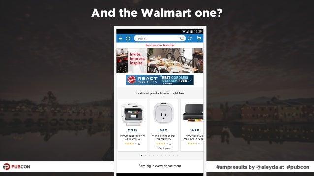 #ampresults by @aleyda at #pubcon And the Walmart one? #ampresults by @aleyda at #pubcon