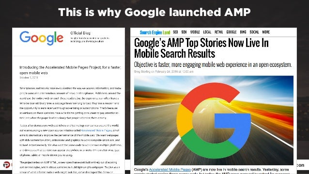 #ampresults by @aleyda at #pubcon This is why Google launched AMP