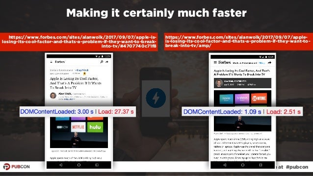 #ampresults by @aleyda at #pubcon Making it certainly much faster https://www.forbes.com/sites/alanwolk/2017/09/07/apple-i...