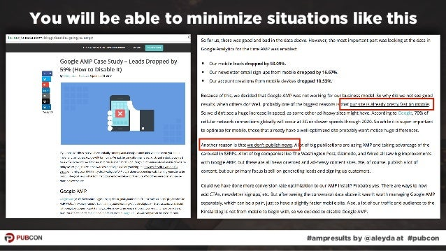 #ampresults by @aleyda at #pubcon You will be able to minimize situations like this