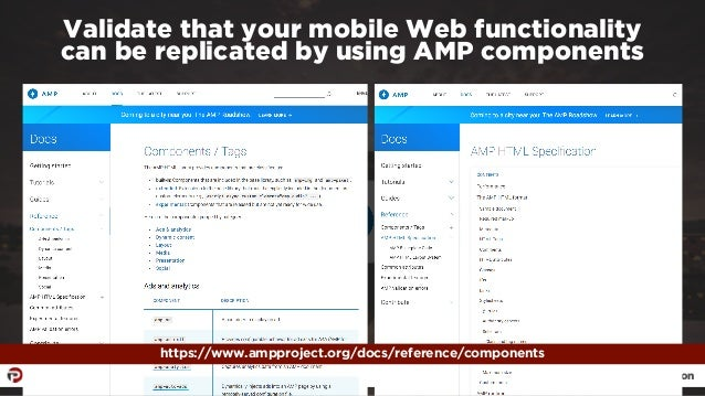 #ampresults by @aleyda at #pubcon Validate that your mobile Web functionality  can be replicated by using AMP components ...
