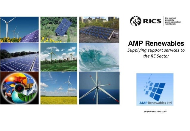 AMP Renewables Supplying support services to the RE Sector amprenewables.com/