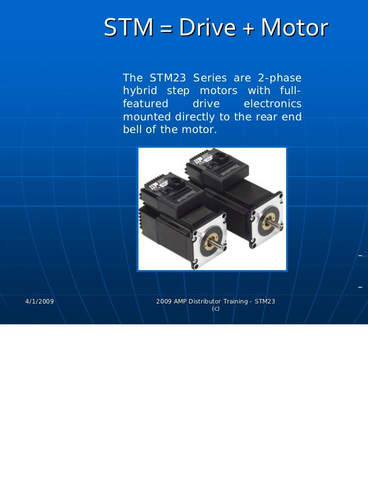 Applied Motion Products Stm Integrated Motor Product Presentation Ma