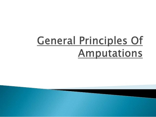 Amputations by Dr. Sunny Agarwal Slide 2