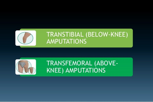 Amputations of the lower extremity