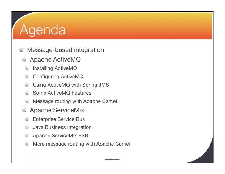 Apache ActiveMQ and Apache ServiceMix