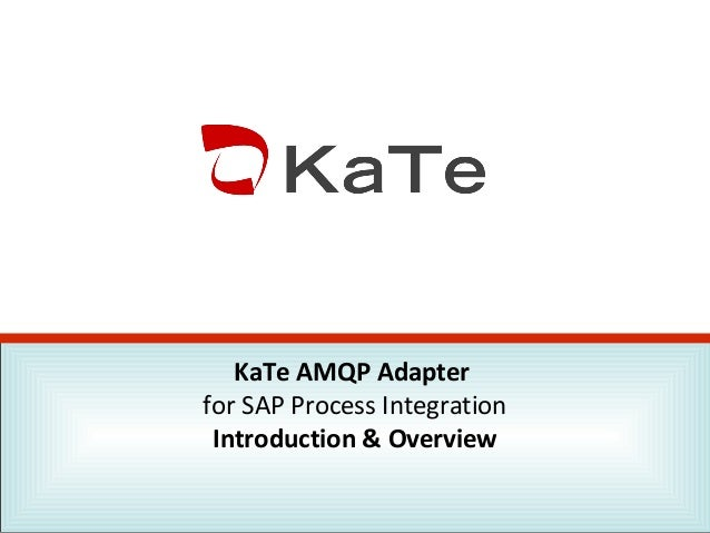KaTe AMQP Adapter for SAP Process Integration Introduction & Overview