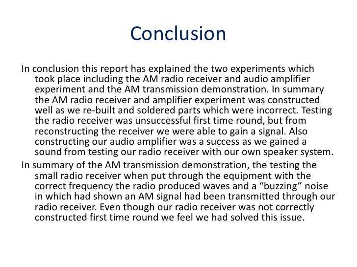 Am Radio Receiver And Amplifier Experiment And Am
