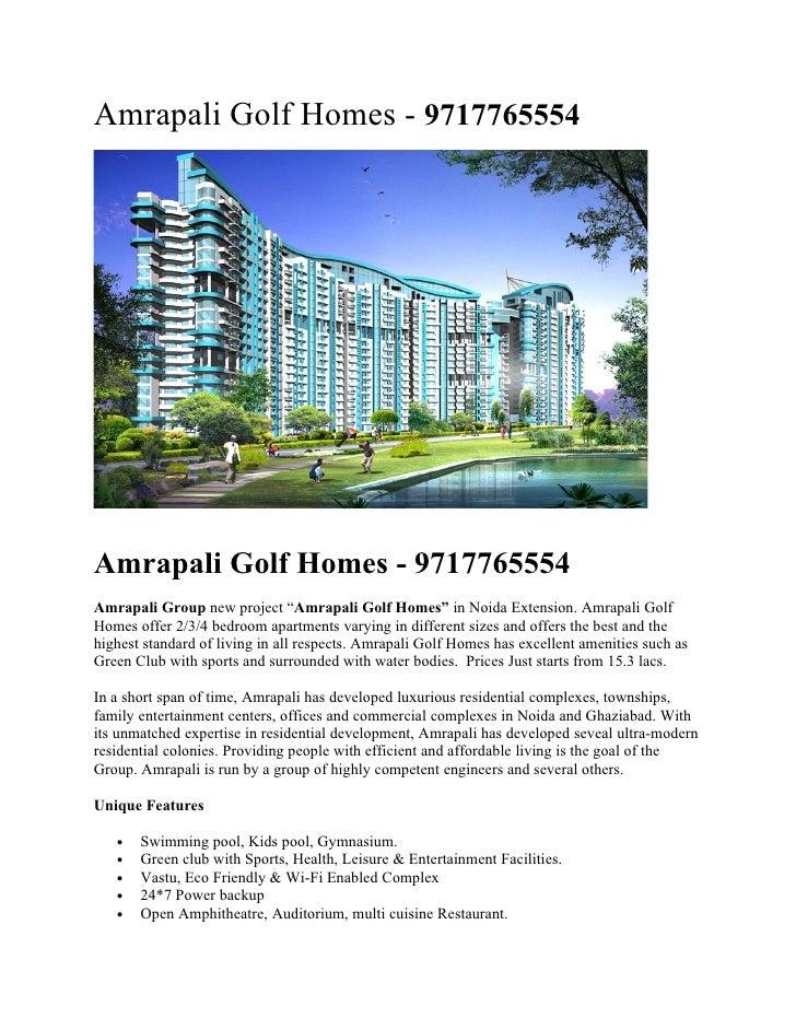 "Amrapali Golf Homes - 9717765554     Amrapali Golf Homes - 9717765554 Amrapali Group new project ""Amrapali Golf Homes"" in ..."