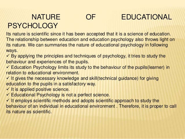 teacher psychology essay Chapter 1: teaching and educational psychology by ahmad z al  khatib 201080033 reflection essay ch:1 version 2 human development and.