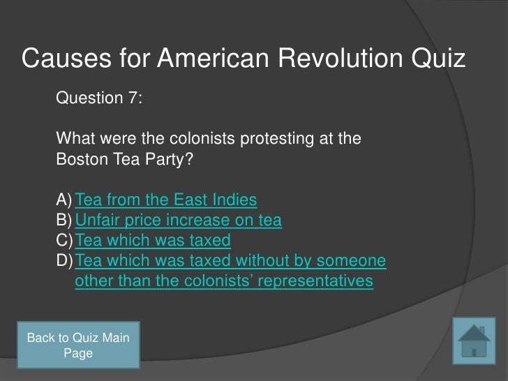 causes of american revolution research paper