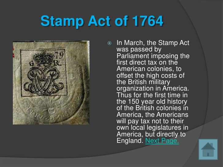 causes for american revolution stamp act