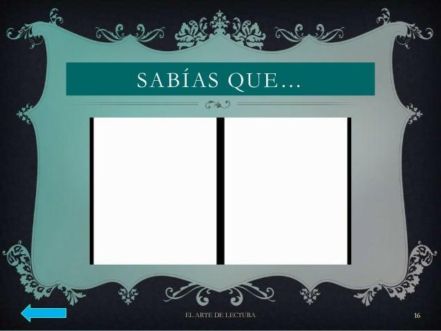 SABÍAS QUE… EL ARTE DE LECTURA 16