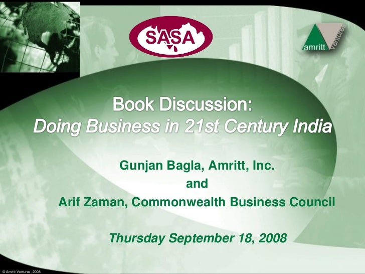 Gunjan Bagla, Amritt, Inc.                                             and                           Arif Zaman, Commonwea...