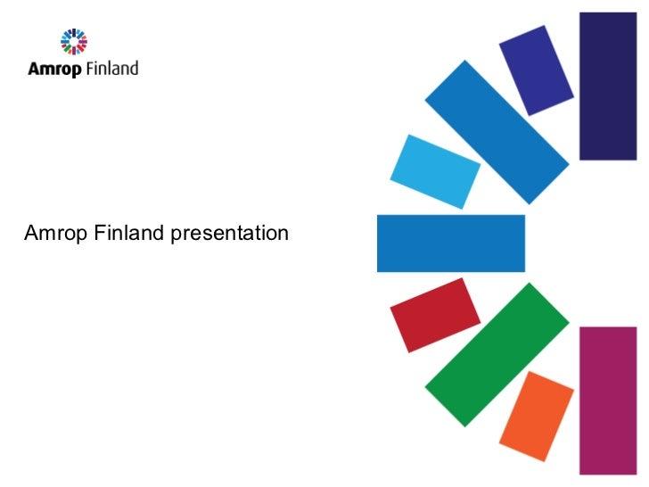 Amrop Finland presentation