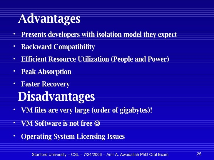 Advantages Of Internet Monitor System : Applications of virtual machine monitors for scalable