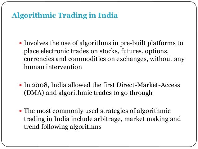 Algorithmic trading & dma an introduction to direct access trading strategies