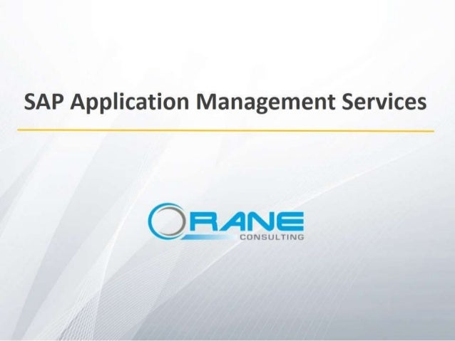 SAP Application Management Services