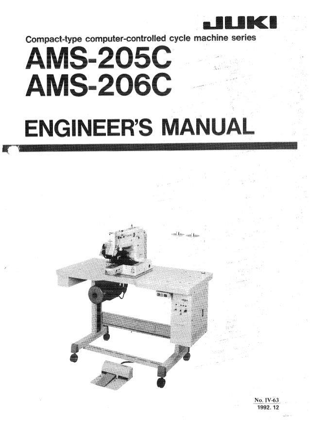 Manual para máquina de coser juki.