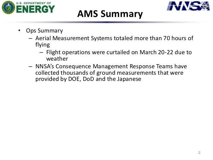 AMS Summary<br />2<br /><ul><li>Ops Summary