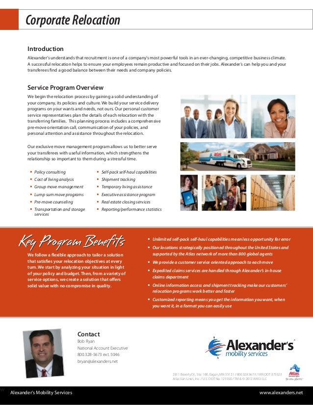 Corporate Relocation           Introduction           Alexander's understands that recruitment is one of a company's most ...