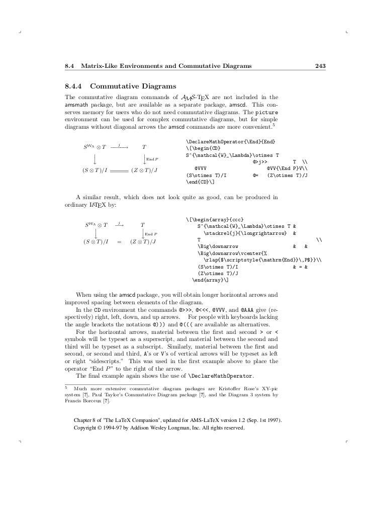 Ams latex higher mathematics 21 84 matrix like environments and commutative diagrams ccuart Images