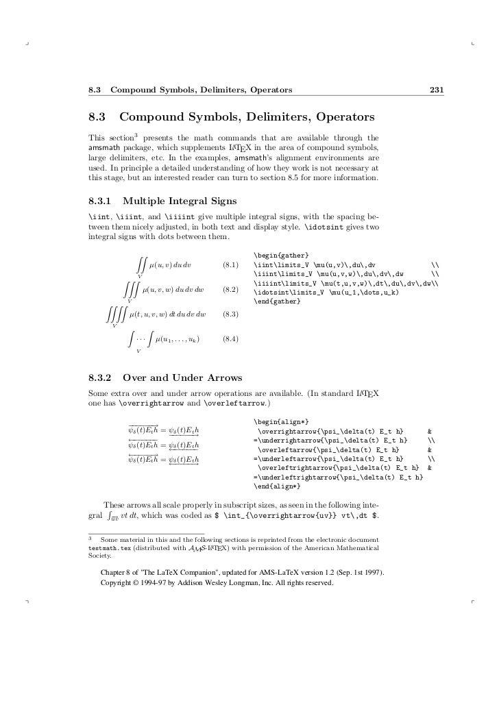Ams Latex Higher Mathematics