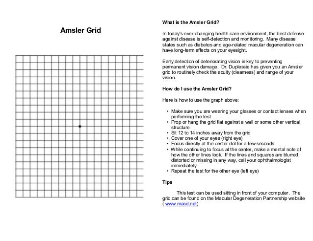 picture about Printable Amsler Grid identify Amsler Grid Printable Google Glance Macular Ailment