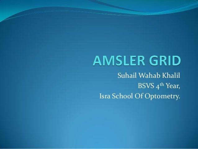 Suhail Wahab Khalil               BSVS 4th Year, Isra School Of Optometry.