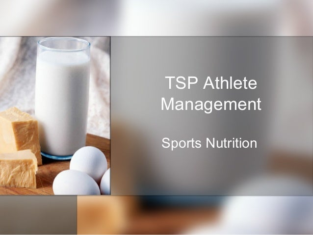 TSP Athlete Management Sports Nutrition