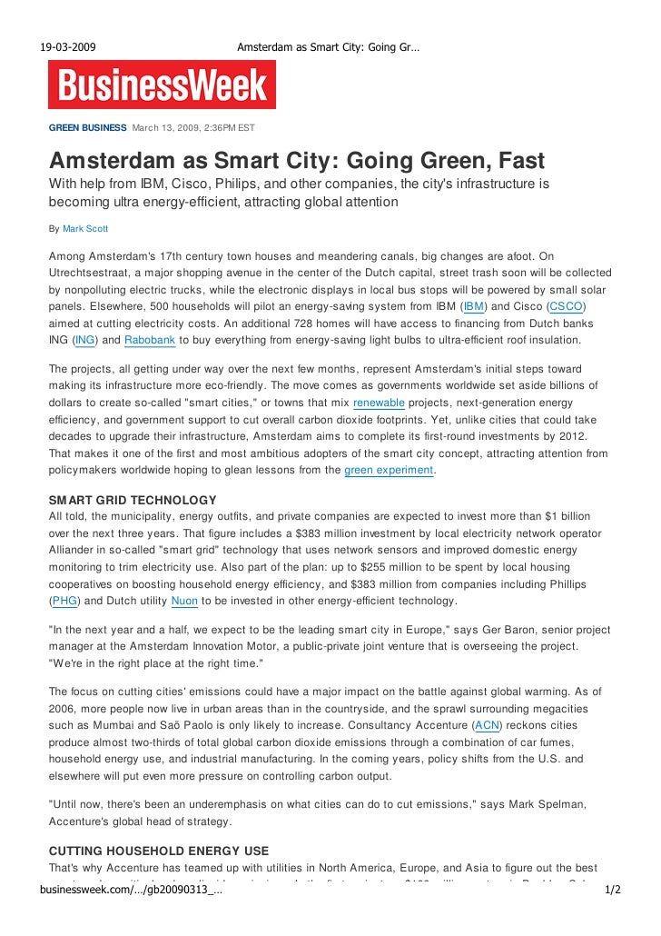19-03-2009                            Amsterdam as Smart City: Going Gr…      GREEN BUSINESS March 13, 2009, 2:36PM EST   ...