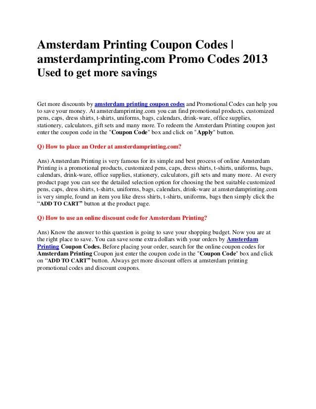 amsterdamprinting coupons | amsterdam printing coupon codes | amsterd…