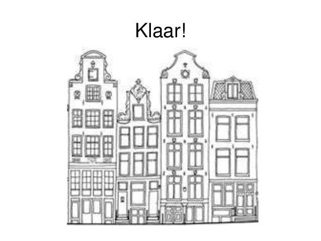 Tekenen Amsterdamse Grachtenpanden