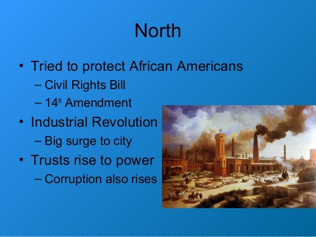 evaluate the impact of the civil war on political and economic developements in two of the following In the history of the united states, reconstruction era has two uses the first covers the entire nation in the period 1865–1877 following the civil war the second one, used in this article, covers the transformation of the southern united states from 1863 to 1877, with the reconstruction of.
