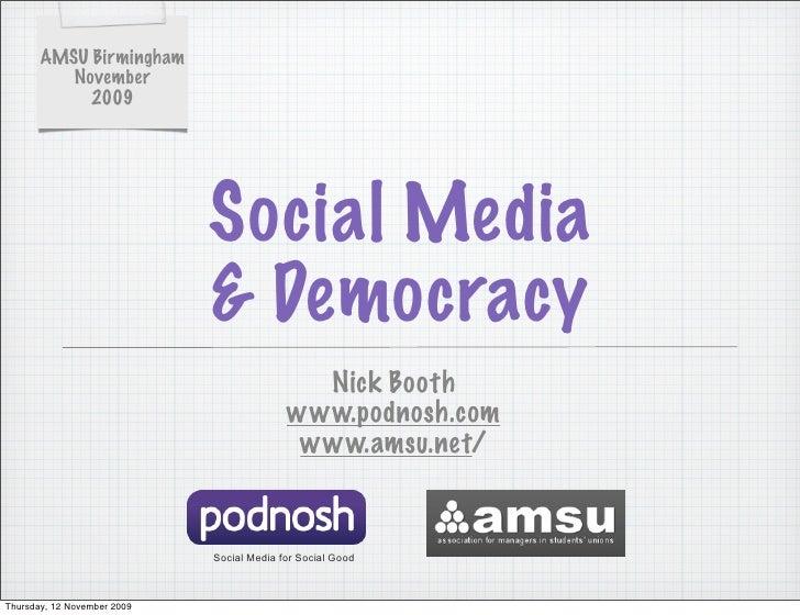 AMSU Birmingham           November             2009                                  Social Media                         ...