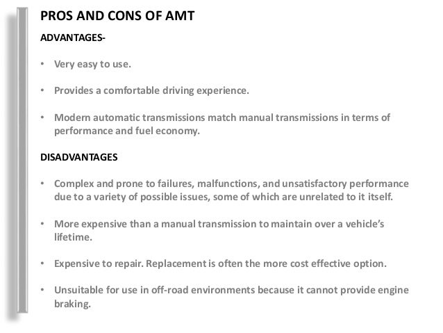 automated manual transmission rh slideshare net Dual-Clutch Transmission disadvantages of manual transmission