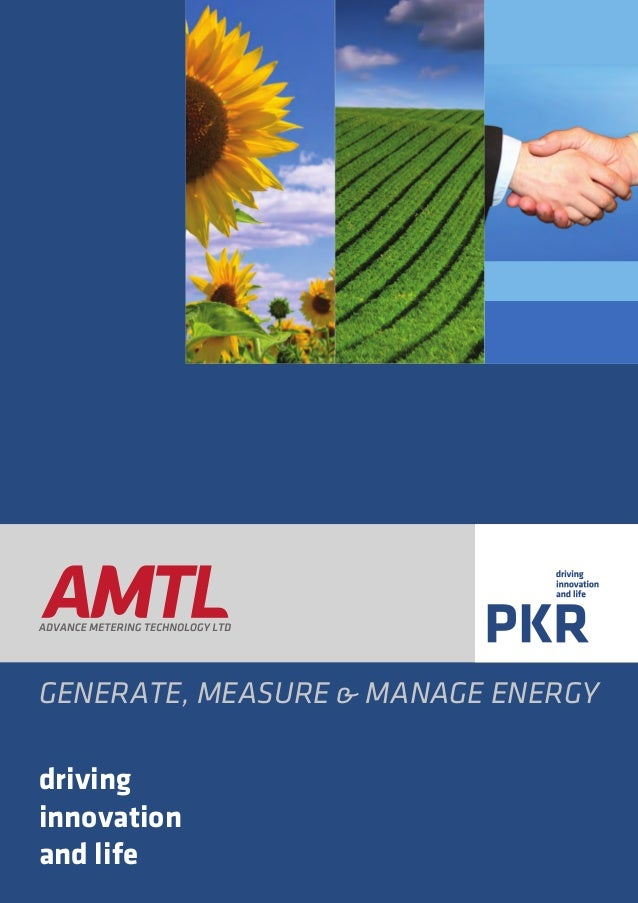 GENERATE, MEASURE & MANAGE ENERGY driving innovation and life