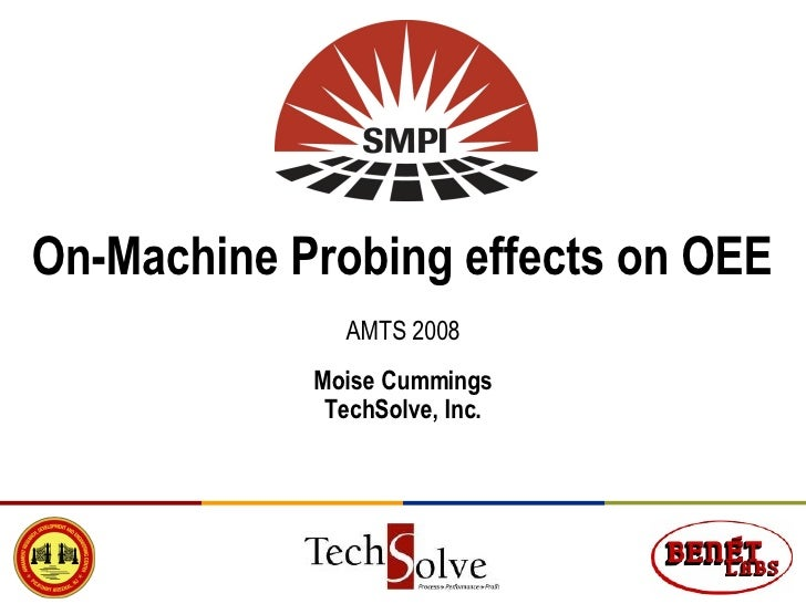 On-Machine Probing effects on OEE AMTS 2008 Moise Cummings TechSolve, Inc.