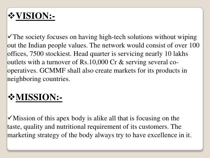 objectives of amul company