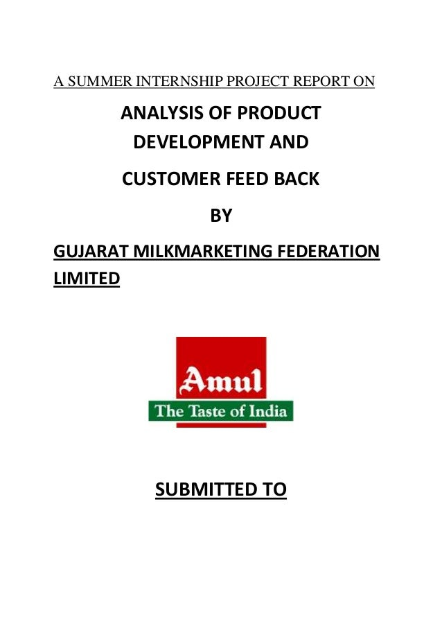 sip project at amul on marketing The gujarat cooperative milk marketing federation (gcmmf) markets the amul brand of milk and dairy products and the amul model of dairy development.