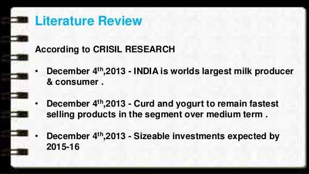 Literature review on comparative analysis of amul dairy