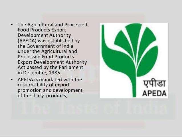 Agricultural and Processed Food Products Export Development Authority