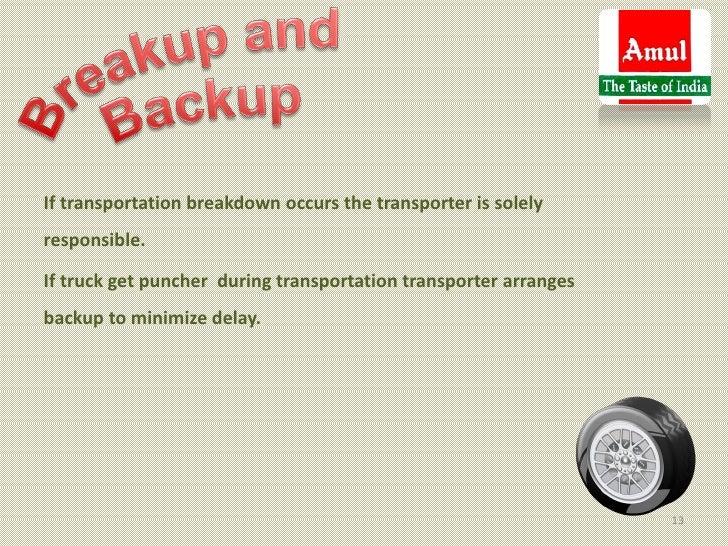 If transportation breakdown occurs the transporter is solelyresponsible.If truck get puncher during transportation transpo...