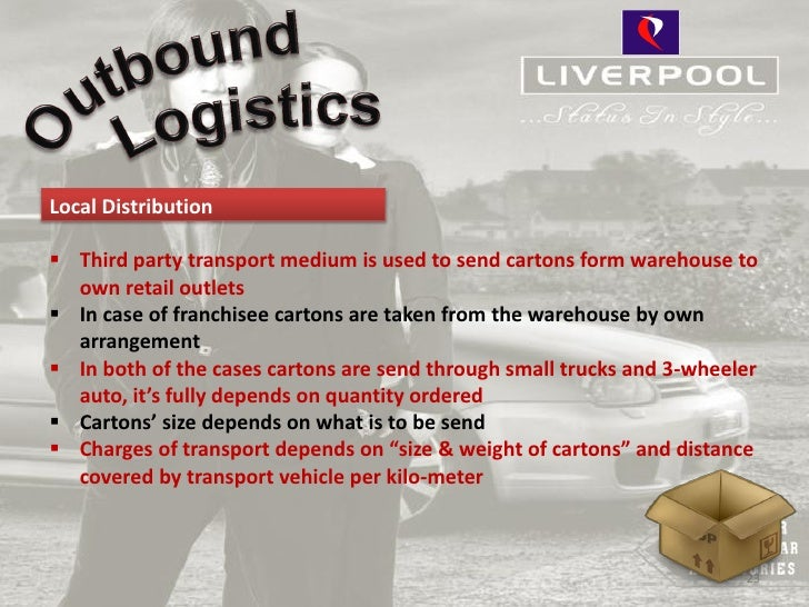 Local Distribution Third party transport medium is used to send cartons form warehouse to  own retail outlets In case of...